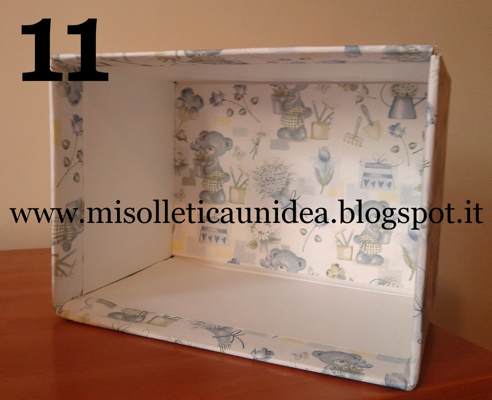 Mi solletica un 39 idea non rompete le scatole for Foderare una scatola