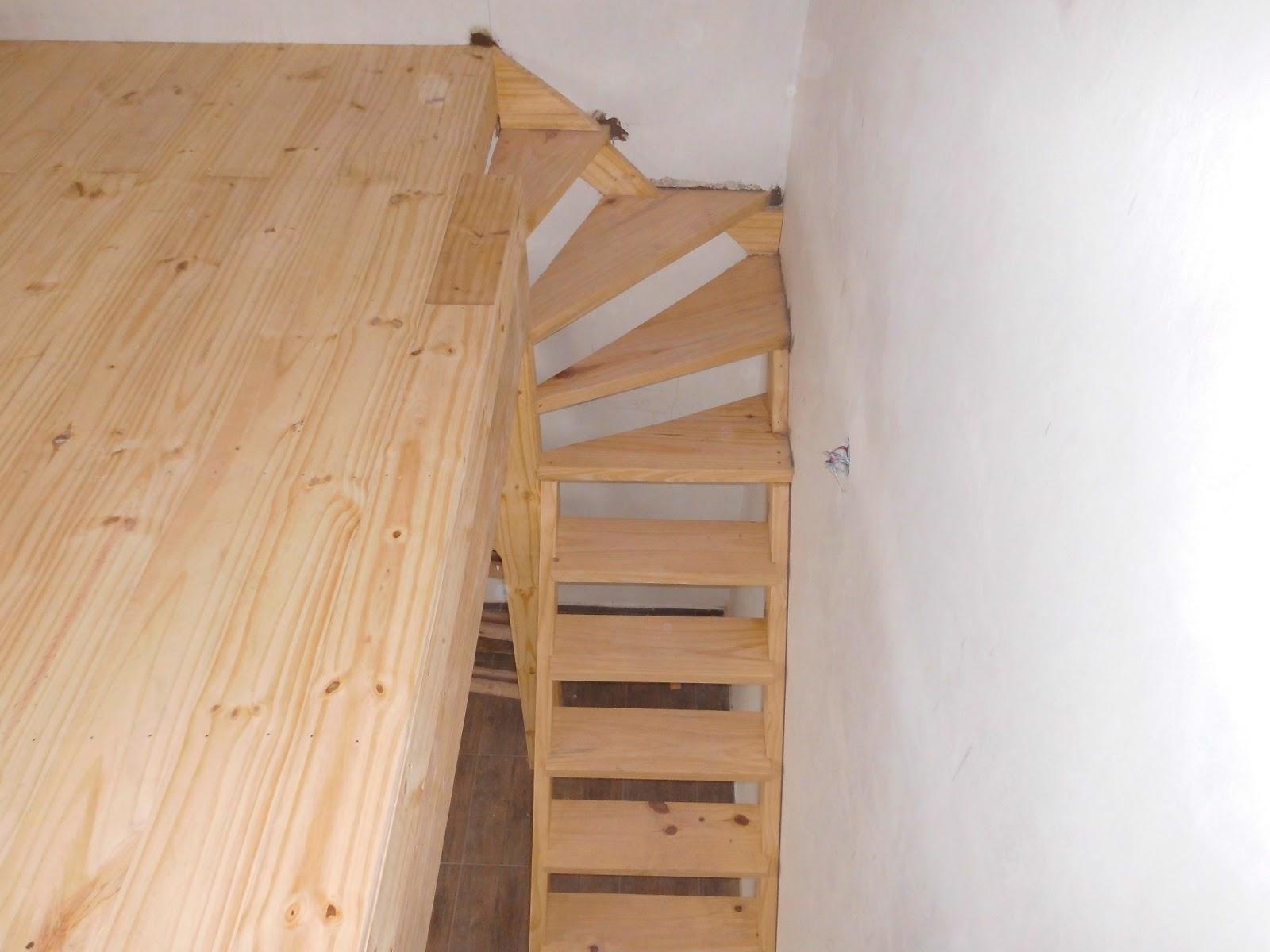 Entrepisos de madera escaleras escaleras for Espacio escalera