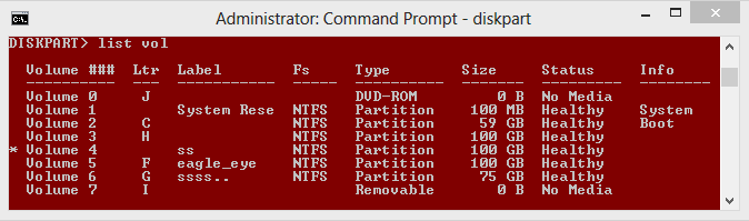 how to delete partition using command prompt