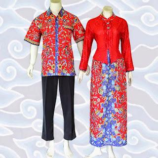 baju batik wanita pria modern online