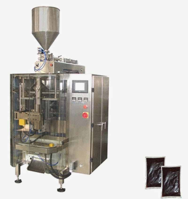 400ml liquid form fill seal packaging machinery for cream liquid paste Mayonnaise oil VFFS packing