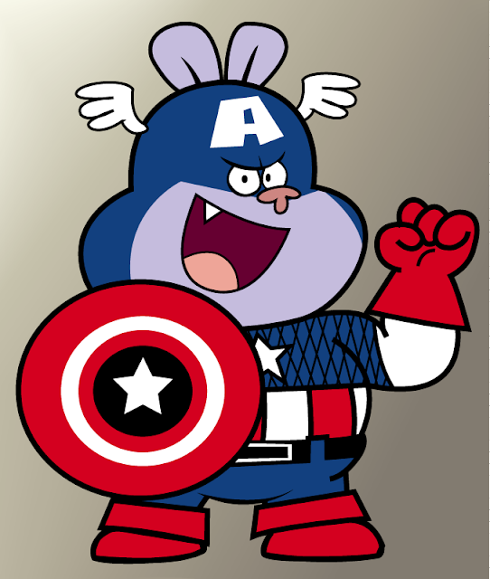 Chowder as Captain America por ChowderEyes