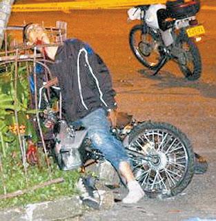 Descuartizado en Accidentes en MOTO
