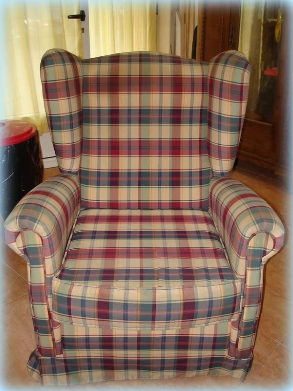 El desv n de los trastucos cambiar el tapizado a un - Telas para tapizar un sillon ...
