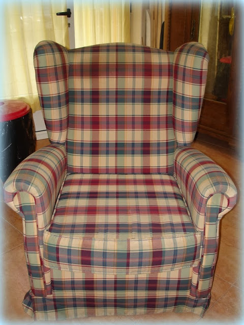 El desv n de los trastucos cambiar el tapizado a un sill n orejero - Precio tapizar sillon orejero ...