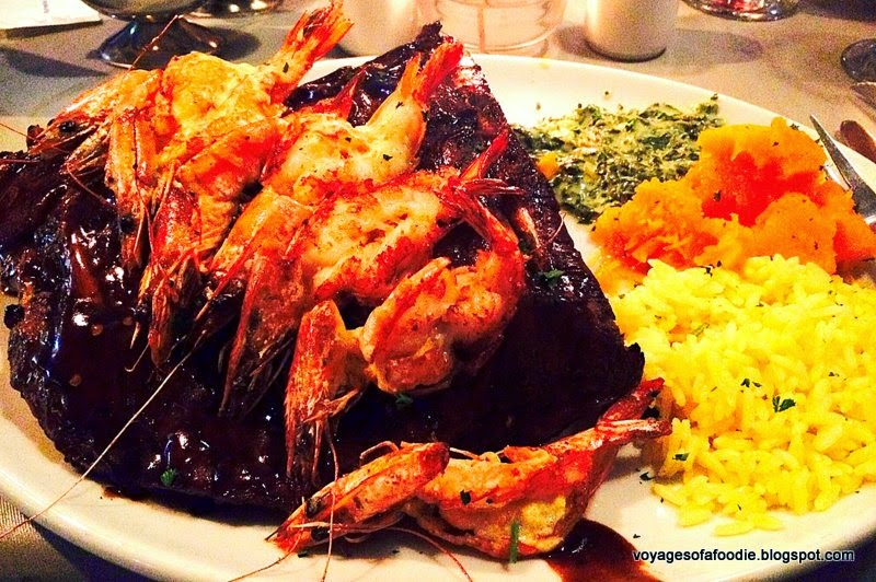 Fahrenheit Seafood & Grill - Ribs and Prawns