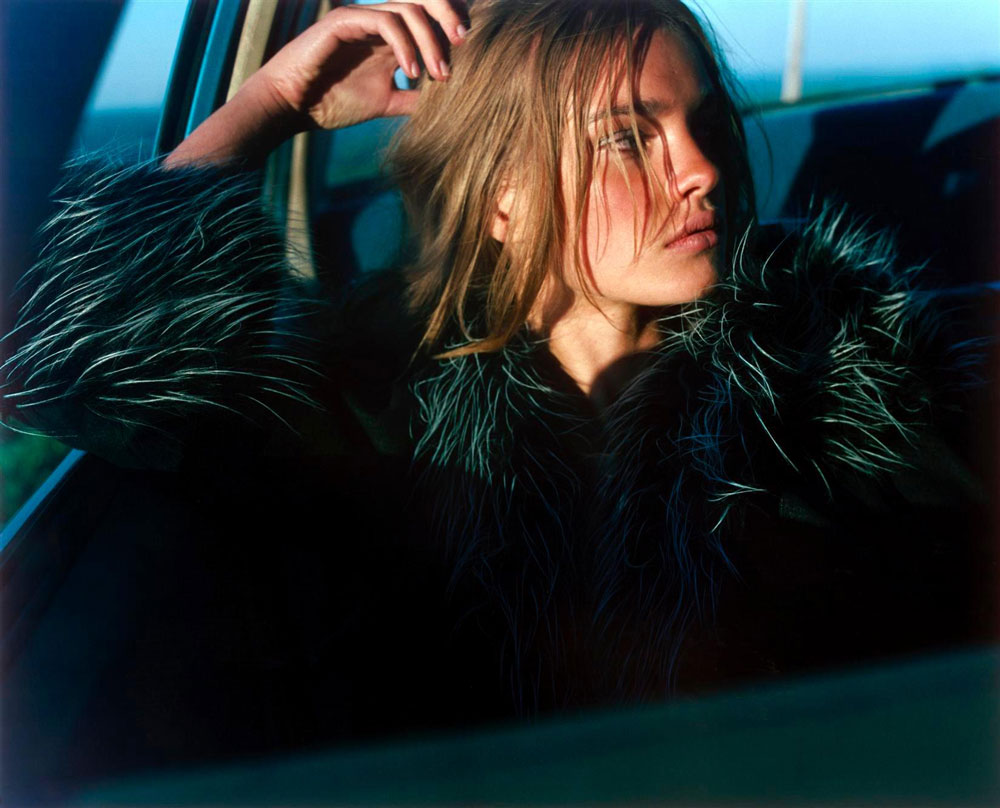 Natalia Vodianova in Lost highway | Vogue Nippon November 2002 (photography: Carter Smith)