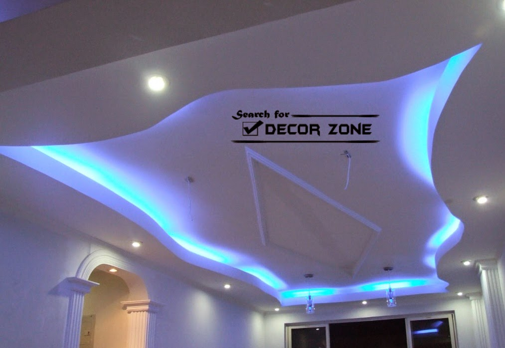 modern gypsum board false ceiling designs for living room
