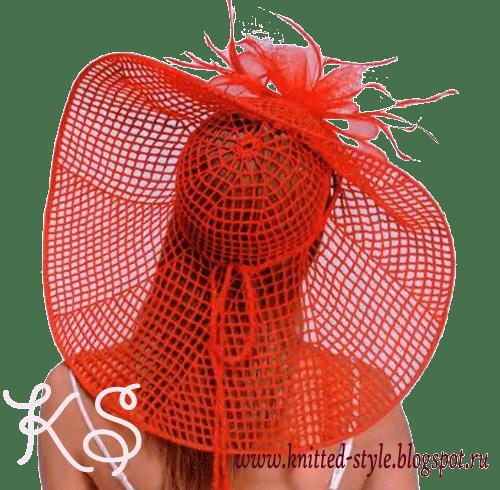 широкополая летняя шляпа