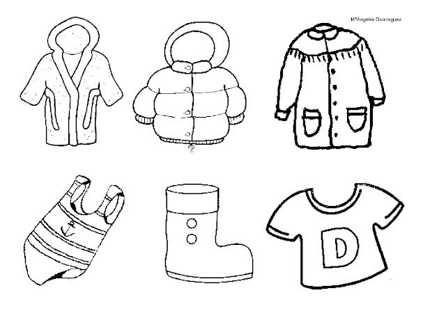 Maestra de Infantil: Prendas de vestir y complementos. Dibujos ...
