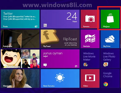 Windows 8 Metro Mağaza