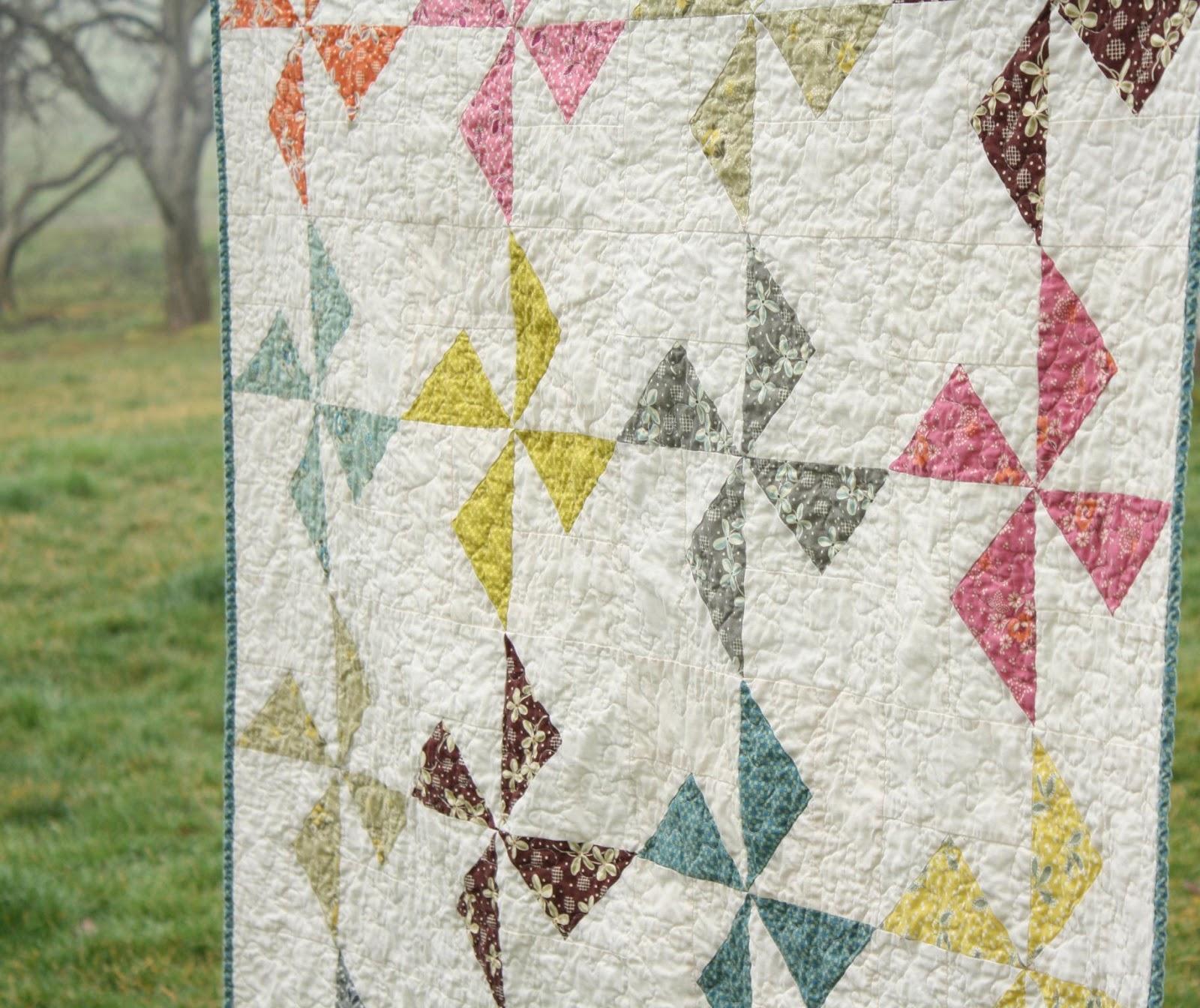 Free Printable Pinwheel Quilt Pattern : Why Not Sew?: Finally...Hope Valley Flying Geese Pinwheel