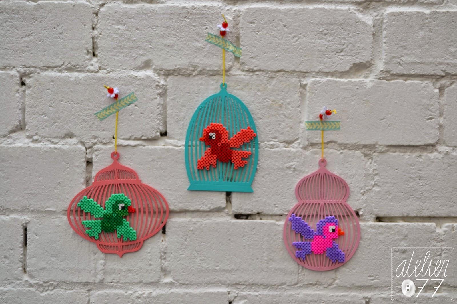 vogelkooitjes vogeltjes atelier077 hama kralen hamakralen