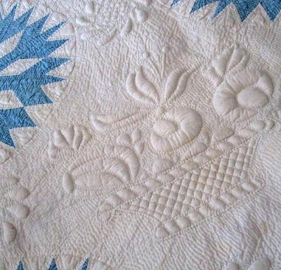 Detail Darst Family Quilt Elizabeth Ann Darst Circleville, Ohio 1840-1841