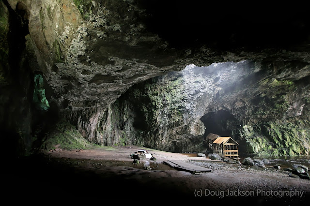 Smoo Cave in Northern Scotland