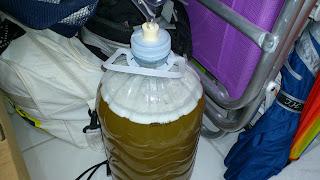 Bambona antes de começar a fermentar o Hidromel