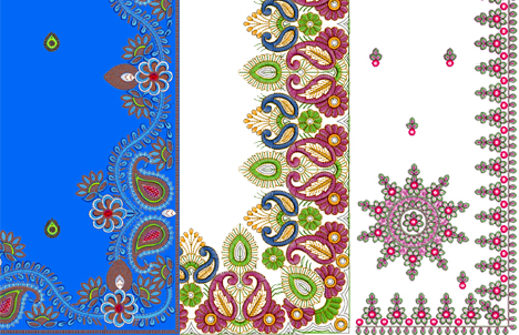 Embroidery Designs for Sarees Border http://embroworld.blogspot.com/2012/02/sequin-3-mm-saree-c-pallu-border-saree.html