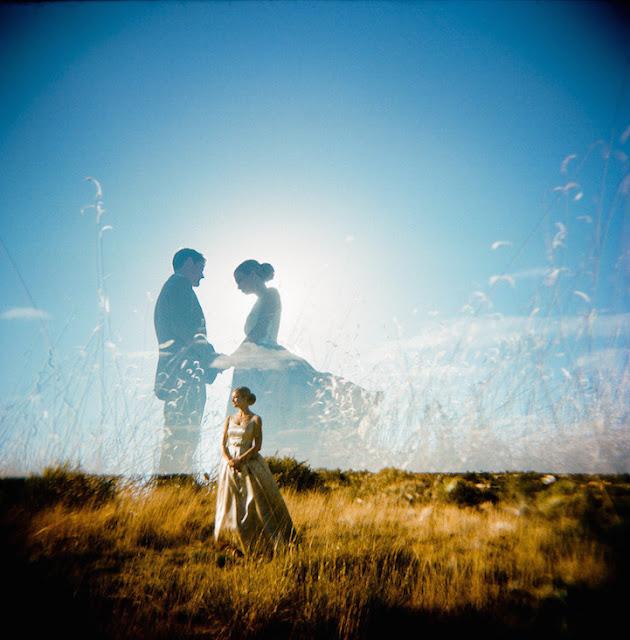 Belíssimas fotos de Casamento em dupla exposição