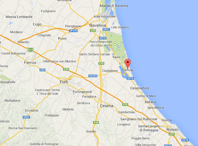 Cervia Italy  City new picture : Lauren To Forli, Italy: First Italian Beach