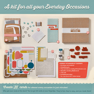 contents of Everyday Occasions Cardmaking Kit