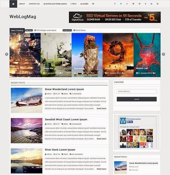 Weblogmag blogger template