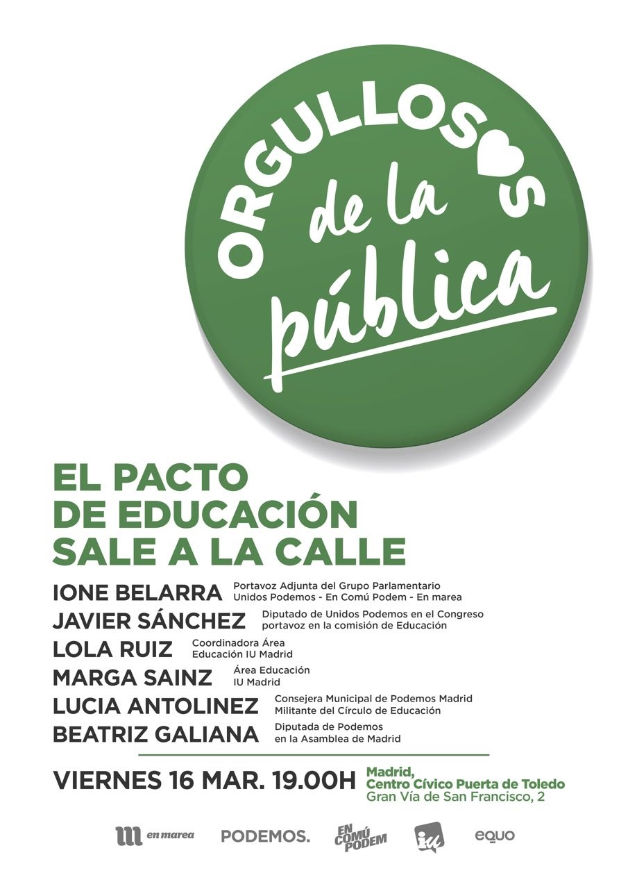 El pacto educativo sale a la calle