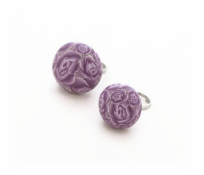 Polymer Clay Millefiori Ring Sizes 20mm & 25mm by Lottie Of London