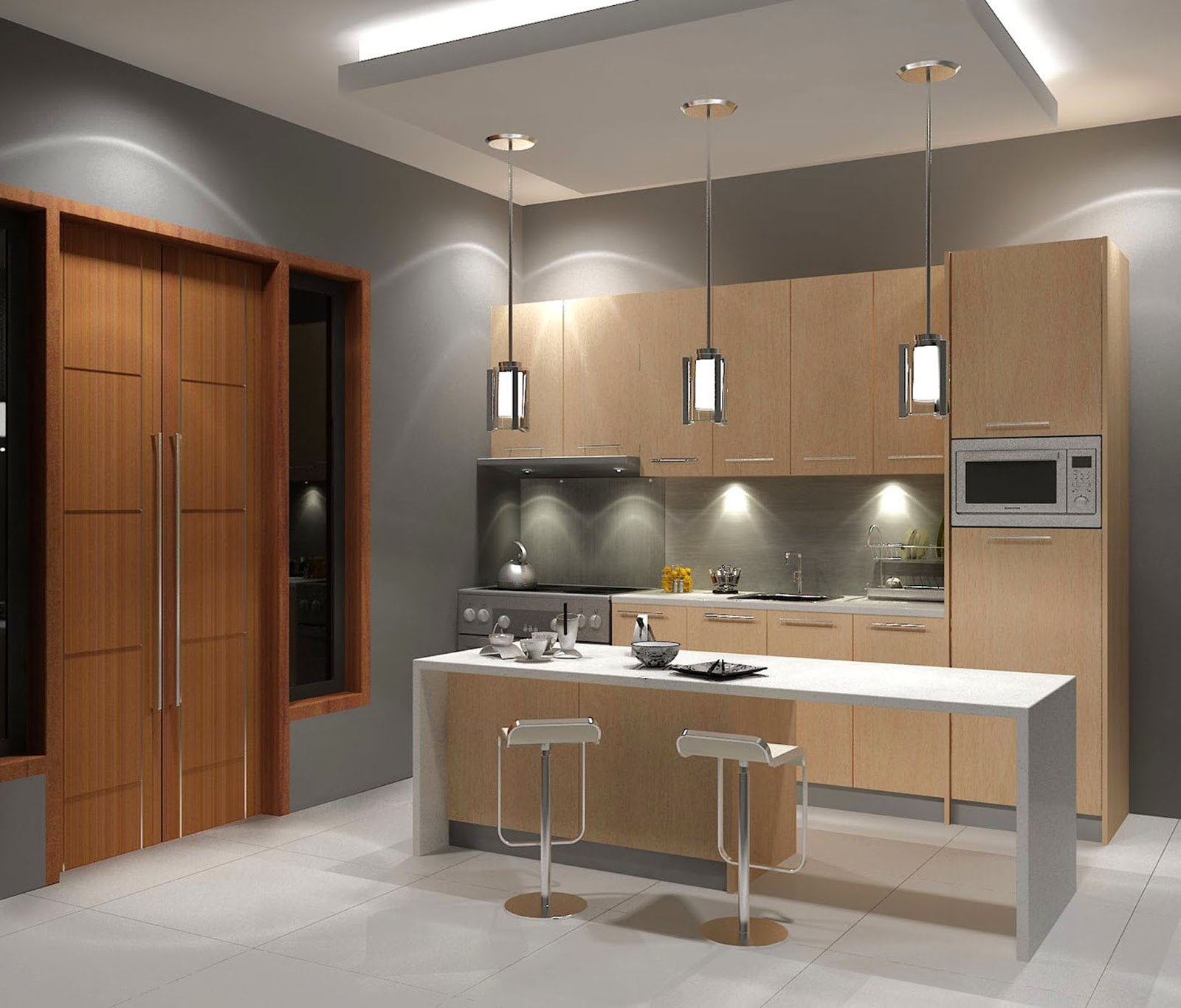 Jasa kitchen set kitchen set finishing hpl