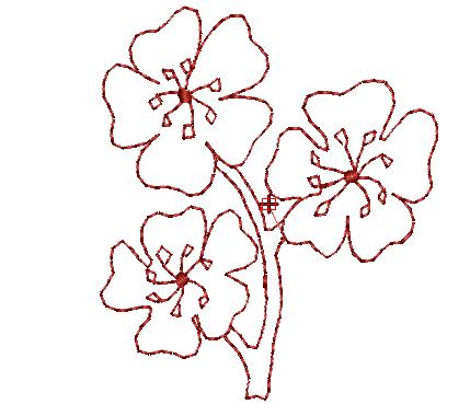 Bordados Descargar Gratis, Flores Lineales para tipos de Tela ...