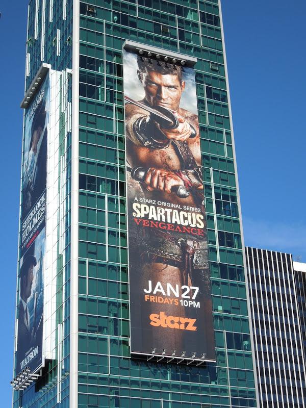 Starz Spartacus Vengeance billboard