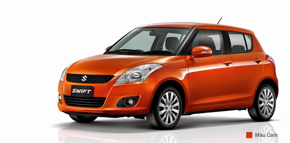 suzuki swift màu cam