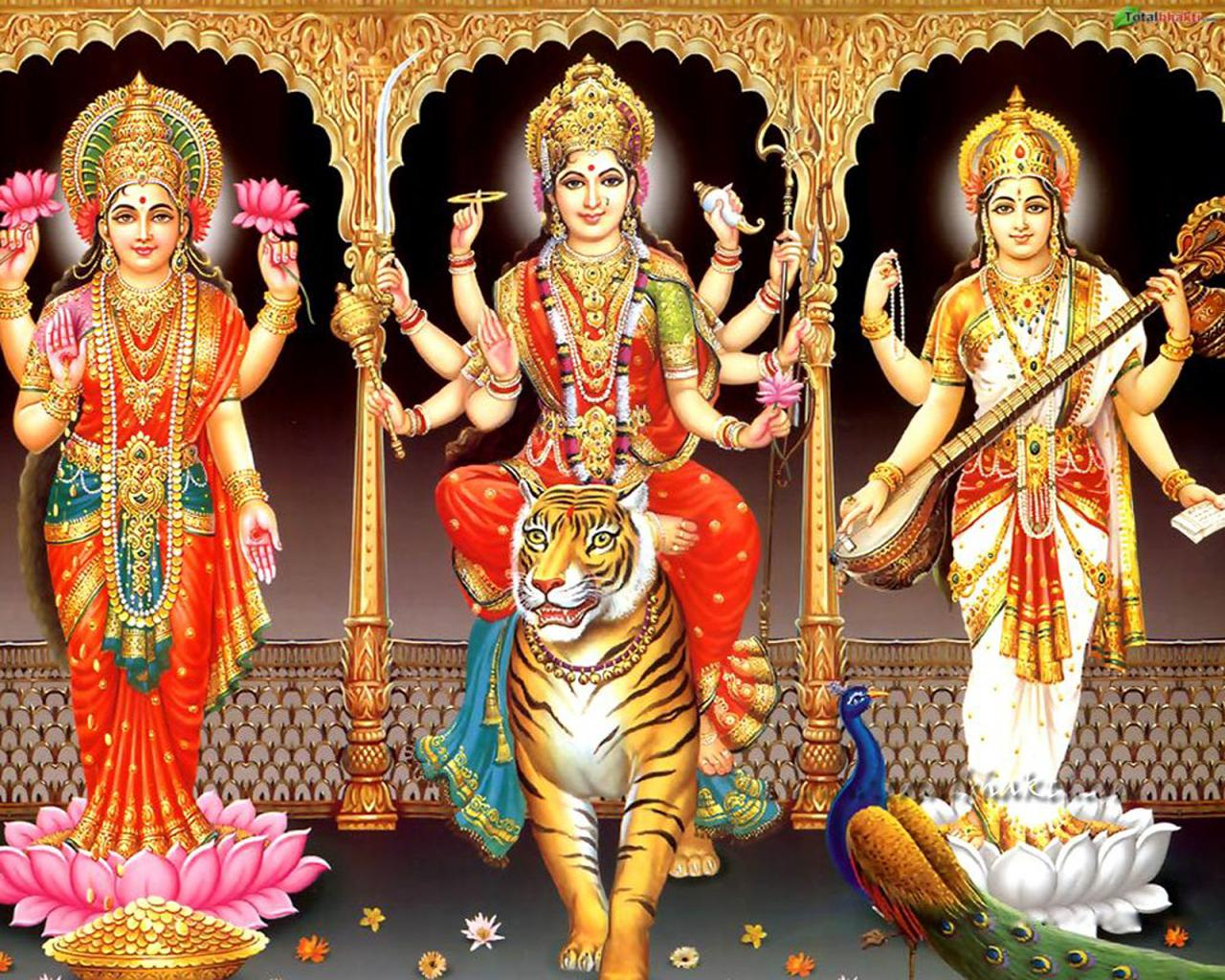 Picture collection hindu goddess lakshmi maa wallpapers - Images of hindu gods and goddesses ...