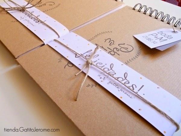 Libro de firmas boda kraft