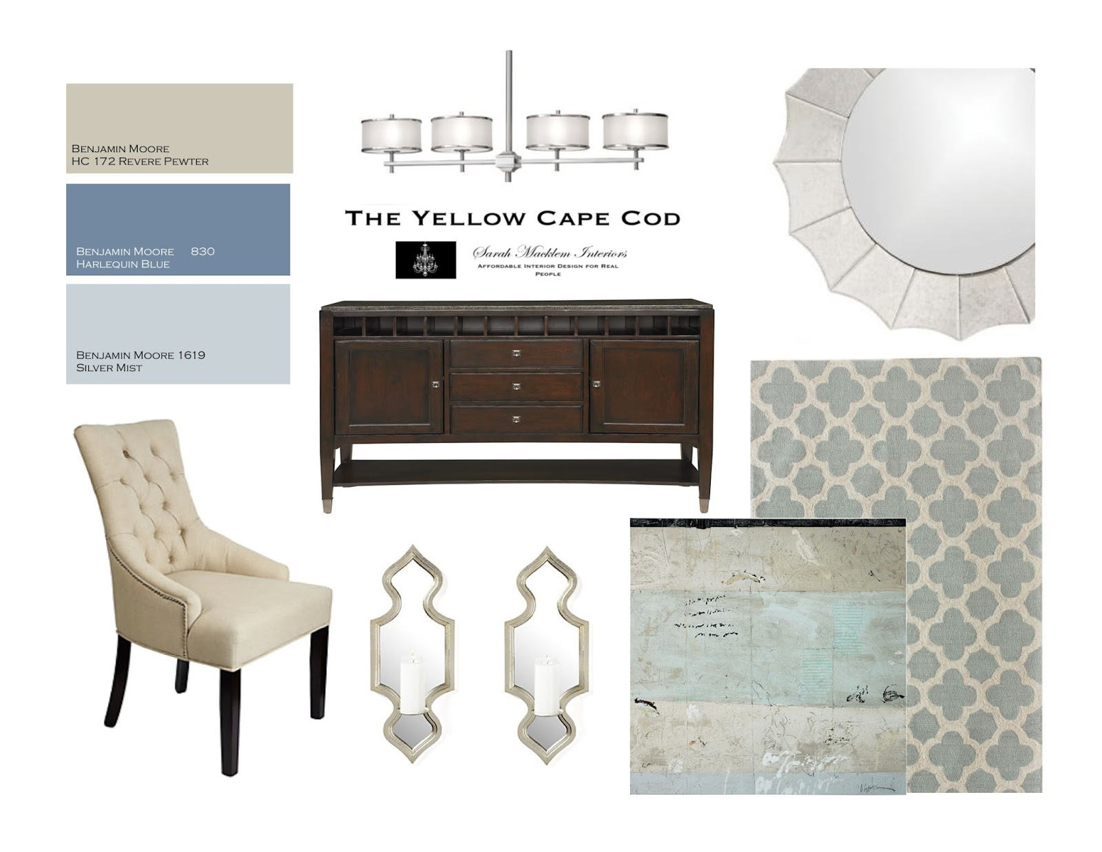 The Yellow Cape Cod: A Sophisticaed Dining/Living Room (shhh…and ...