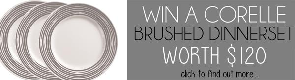 win corelle brushed dinnerware