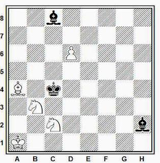 Estudio artístico de ajedrez compuesto por B. A. Bron (1º Premio, Koncurs VTsest XVII Sezda VK, 1934)