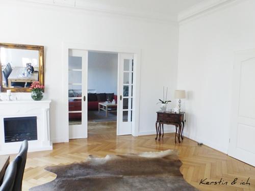 Altbau Villa Fellteppich