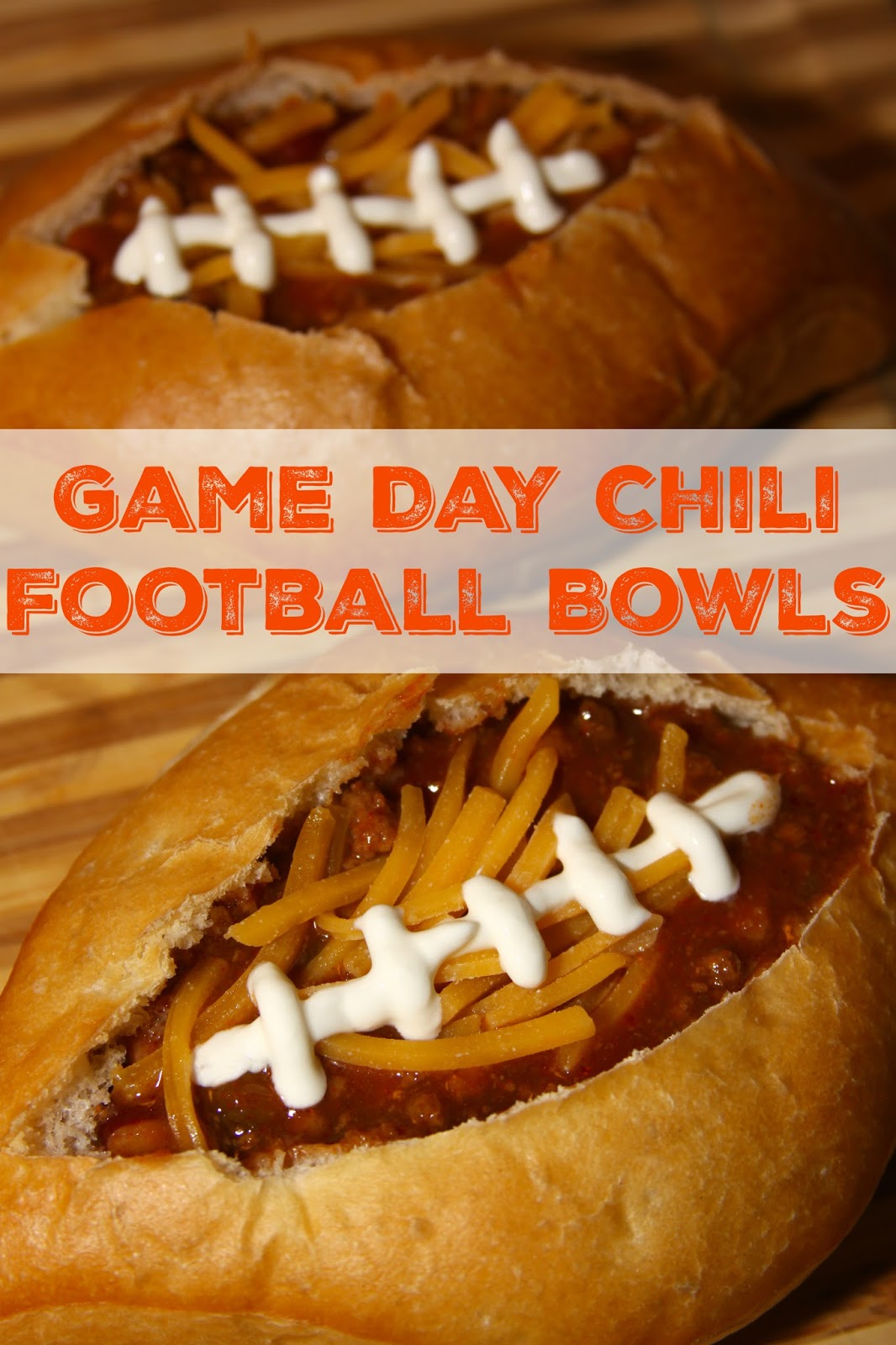 Game Day Chili Filled Football Bread Bowls and the Riunite Chili Cook ...