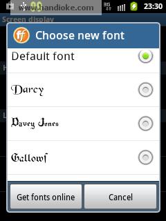Chose new font