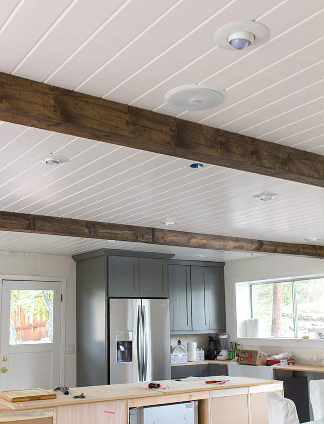 Wood beam ceiling images galleries for Decorative beams in kitchen