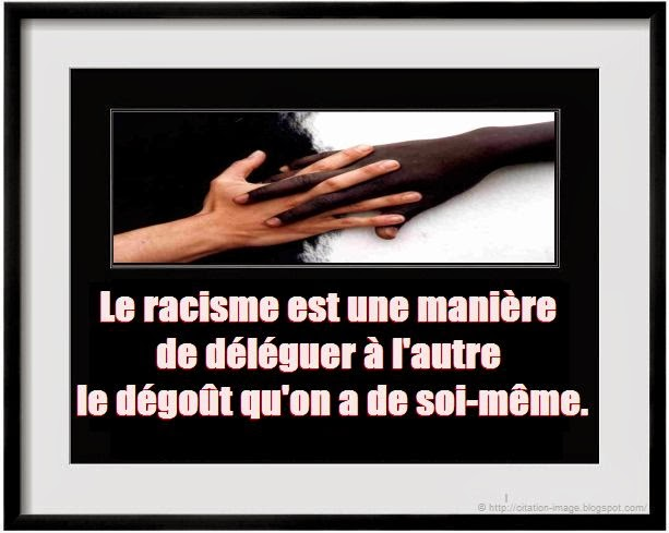 Citation sur le racisme en image