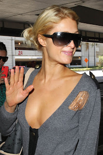 Paris Hilton Braless Candids