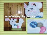 Conejo country en madera