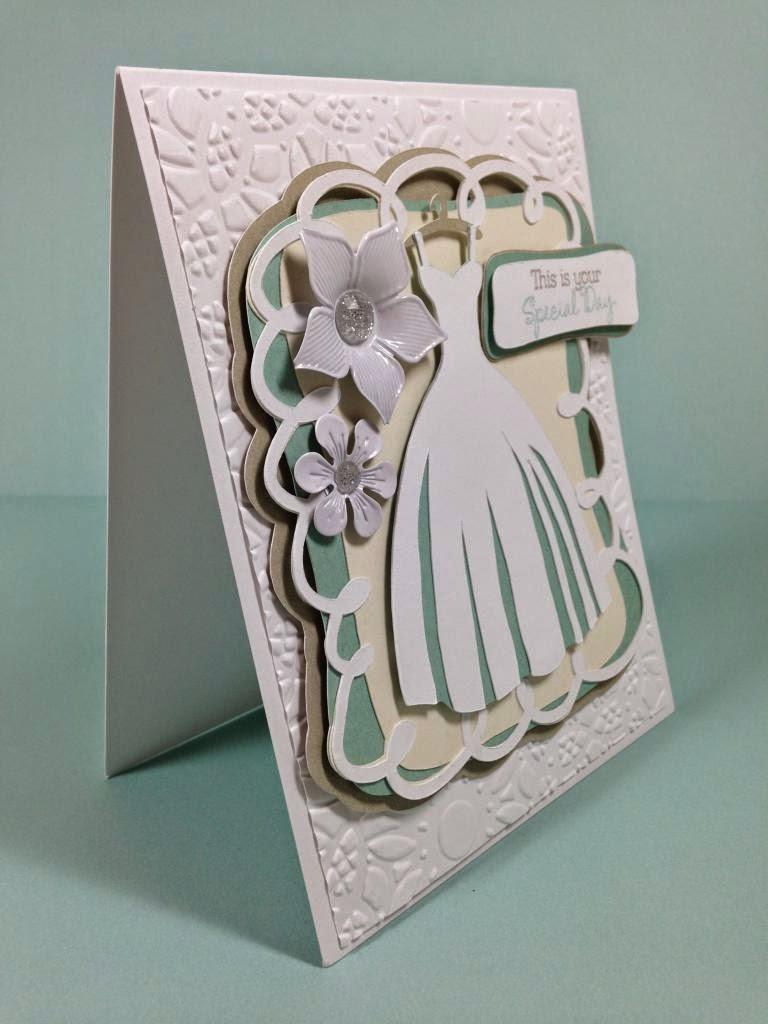 Cricut Wedding card sideview