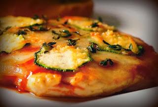 Pechuga tipo pizza