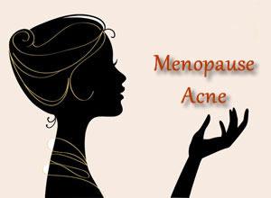 Menopause acne