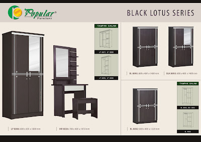 Lemari pakaian murah black lotus