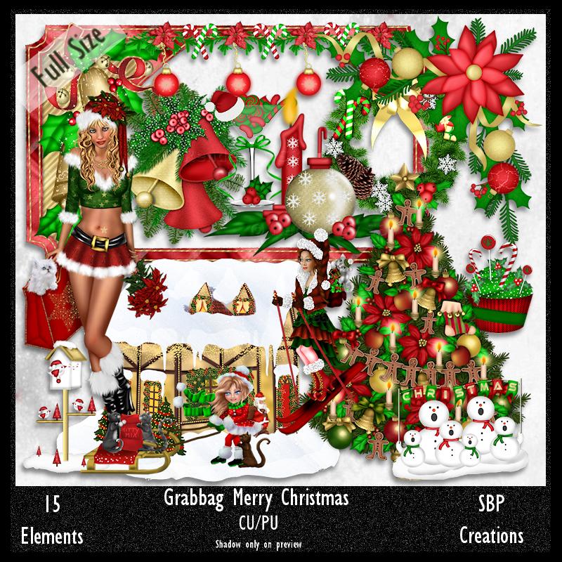 Sbp Creations Grabbag Merry Christmas