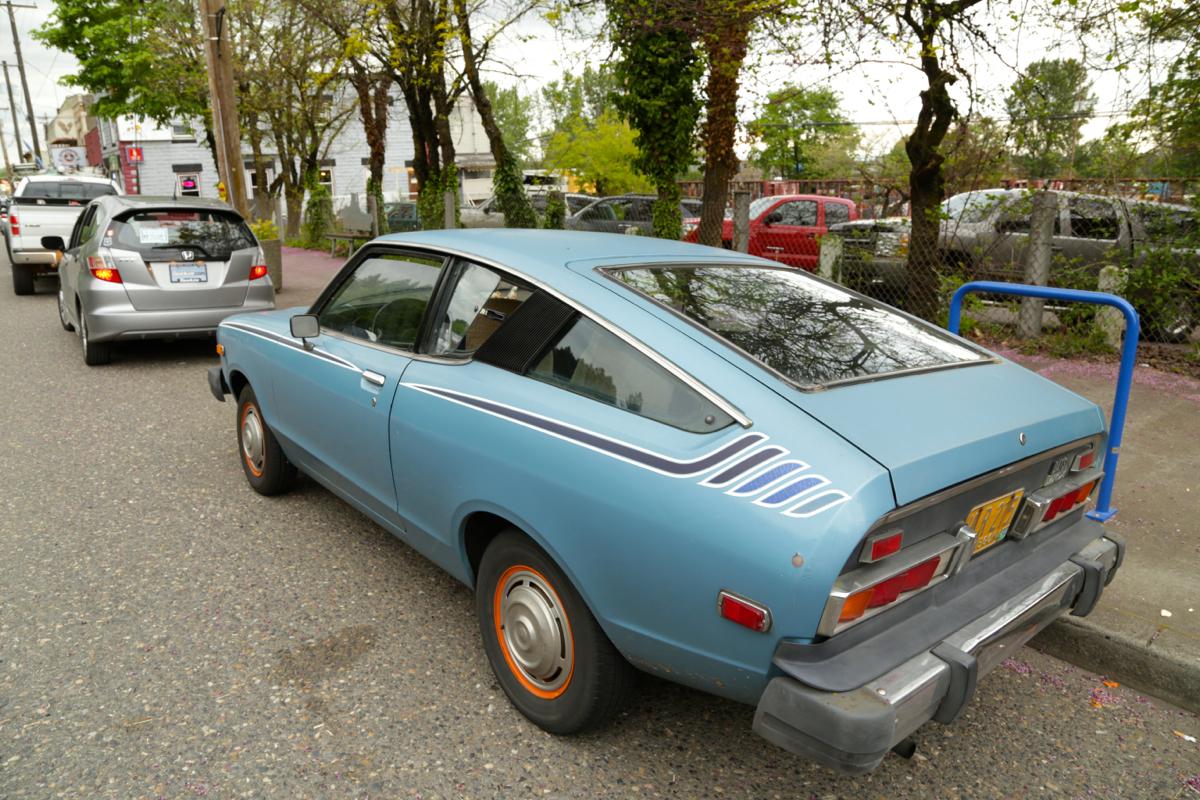 1977 Datsun B210 hatchback.