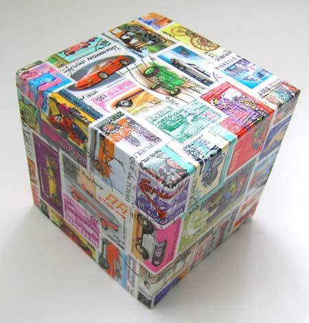 Decoupage con papel de regalo por Recicla Inventa